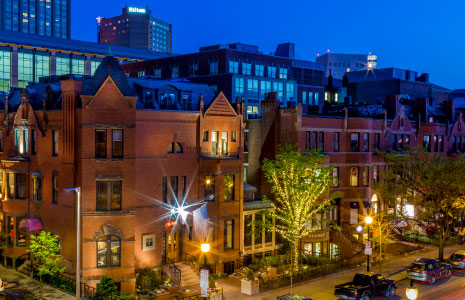284 Newbury Street night view from above