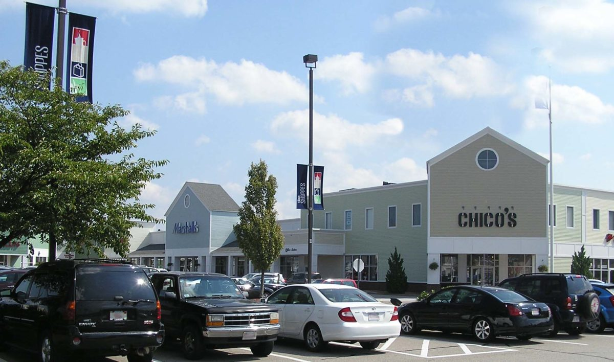 Village Shoppes exterior view from parking lot